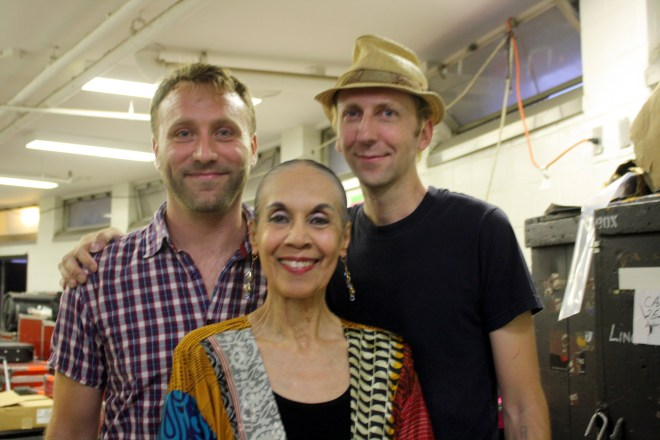 Chris and I with Carmen after the performance. Photo: Lucy Gram