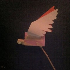 The basic concept was tested in scrap foam, construction paper, masking tape and bamboo