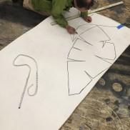 My friend Bill helps by patterning the Y20 foam