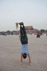 Tianamen-Square-Tony-handstanding