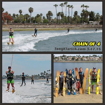 chain of water skiers record