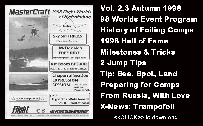 Flight Worlds Hydrofoiling 2.3 History Water Skiing Milestones Tips