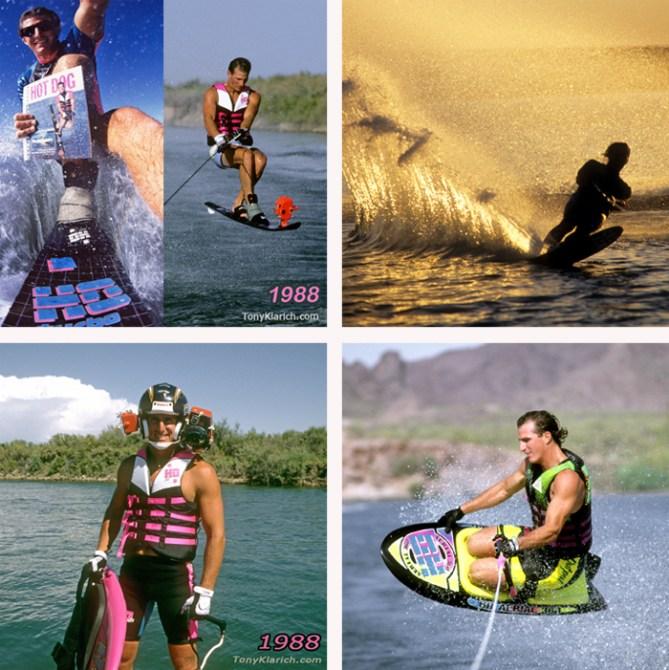 Klarich Water Ski Kneeboard Rick Doyle Photos Original Hemet Cam