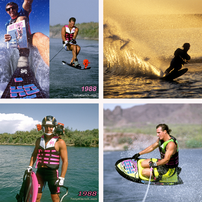 Klarich Water Ski Kneeboard Rick Doyle Photos Original Hemet Cam