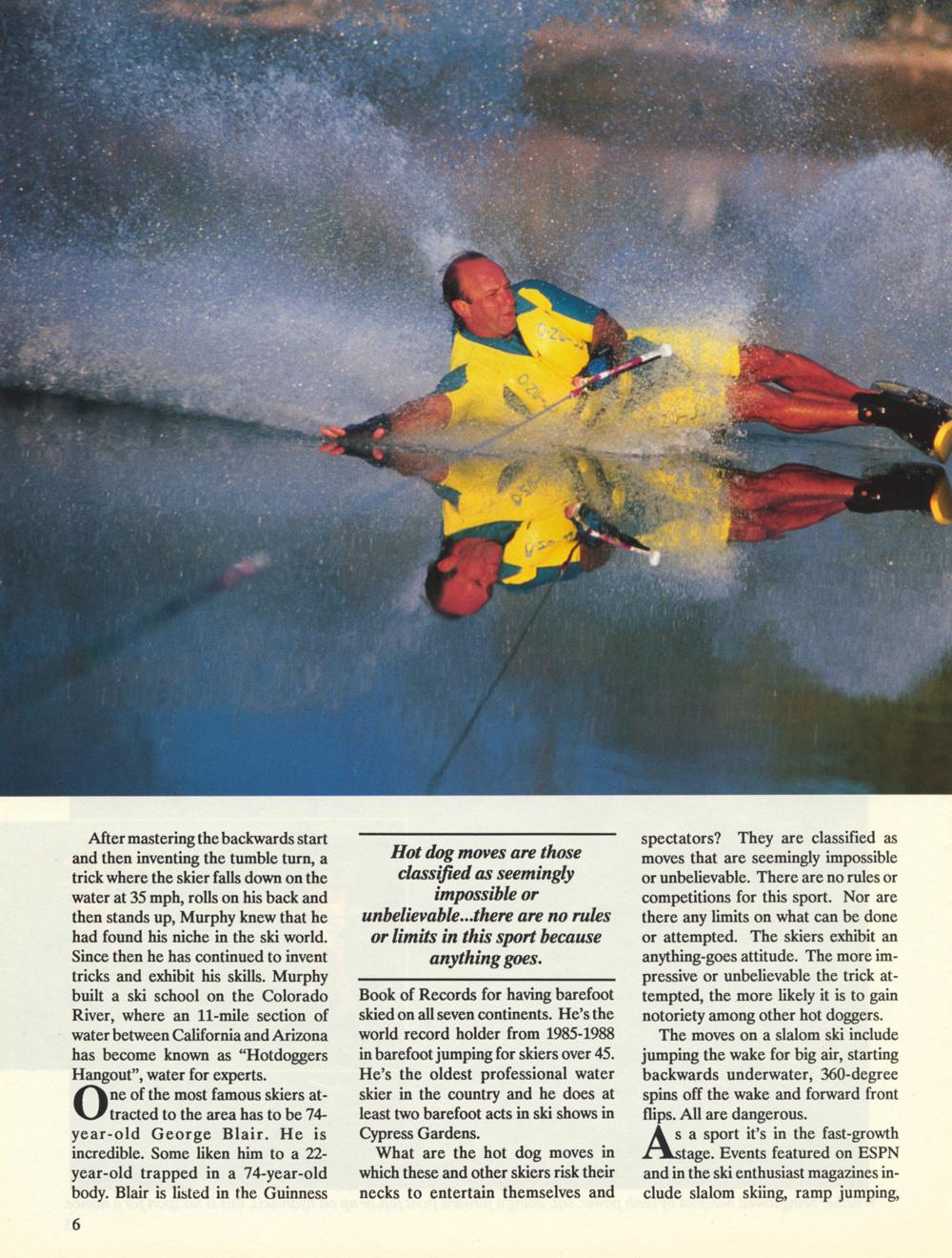 Nissan Hot Dog Water Skiing Mike Mack Slalom Bodyslide