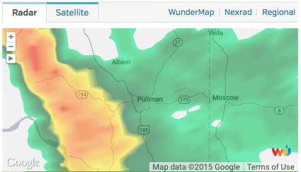 Radar for Pullman, Washington Weather Underground Mini-Fail