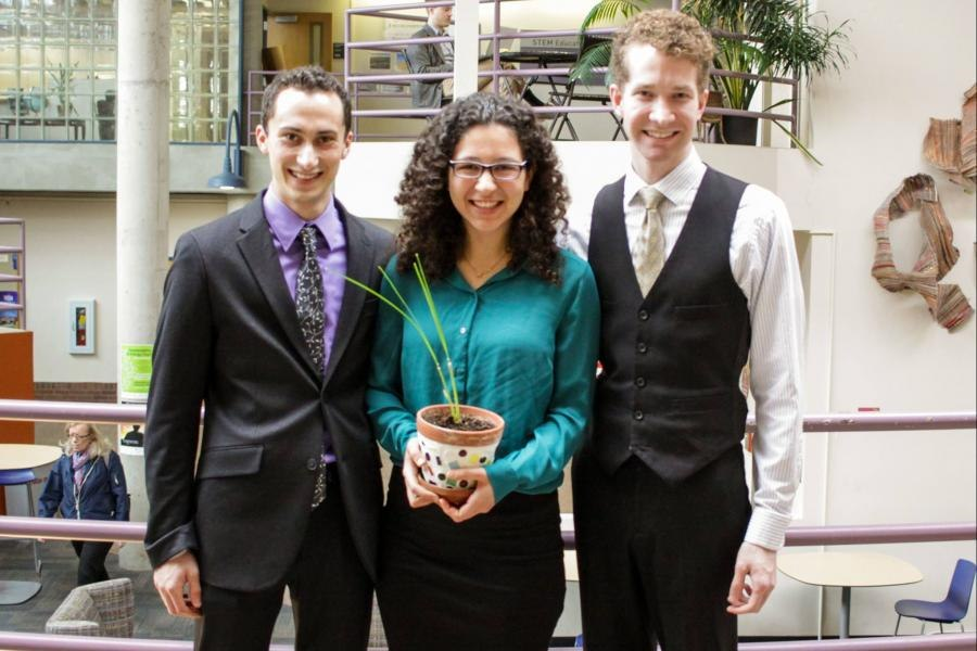 Jesse Abelson (L), Leeore Levinstein, and Dalton Schutte, Vetiver Solutions