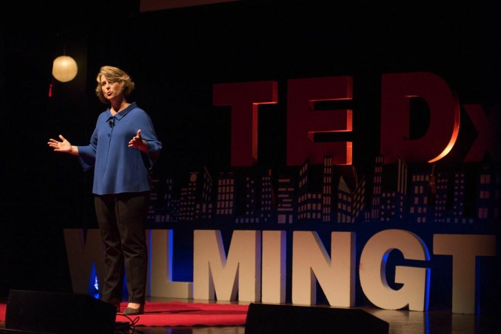 Rachel Hutchisson, Blackbaud, speaking about Human Social Responsibility