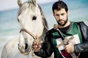 Knight with white horse