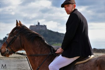 The Rider at St Michael's Mount