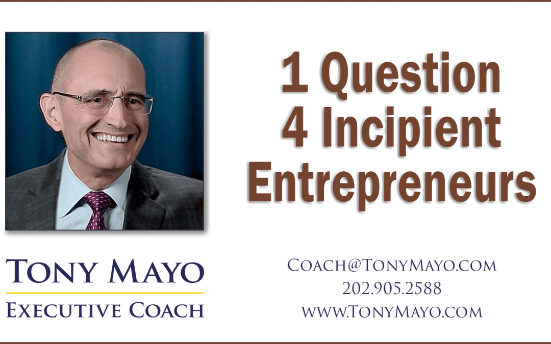 Executive Coach's One Question Quiz for Incipient Entrepreneurs • PODCAST