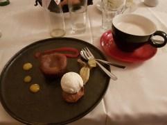Chocolate Fondant and Mango Chai Latte