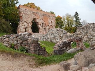 The remains of the castle