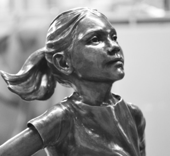 Fearless girl on Wall Street