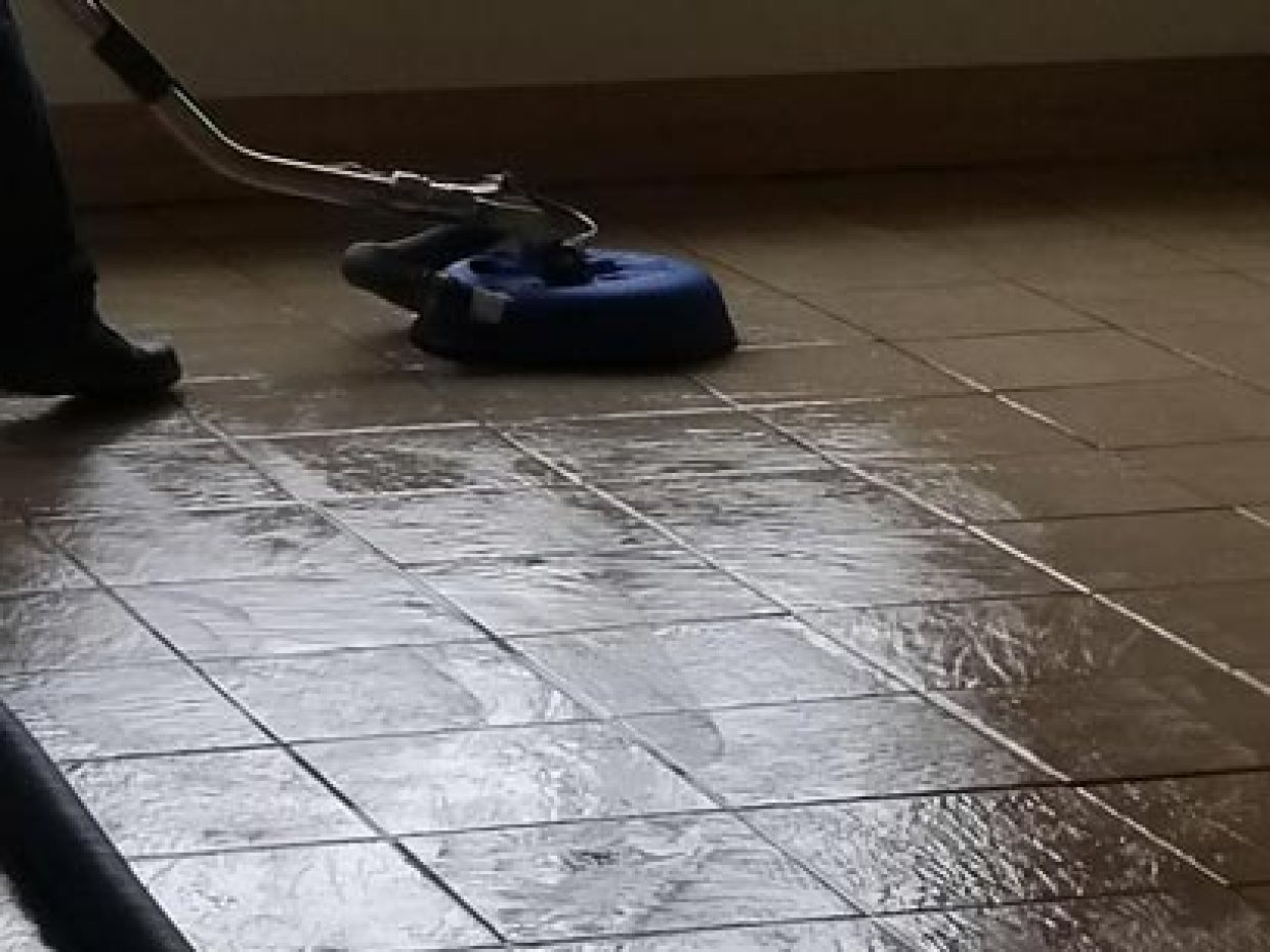 Tony Cleaning Tile