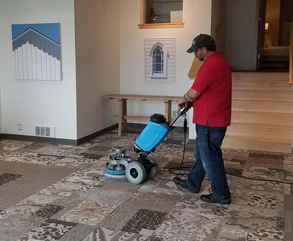 Tony Working with Machine