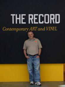 Photo of Tony Zeoli at Duke's Nasher Art Museum for The Record Exhivit