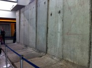 Photo of East side of Berlin Wall at Newseum in Washington D.C.