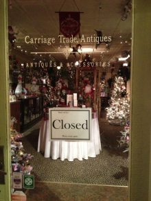 Carriage Trade Antiques Christmas Display