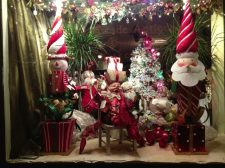 Carriage Trade Antiques and their Christmas Display