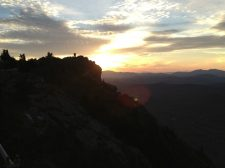 People in sunset at Grandfather Mountain