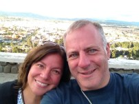 Photo of me and my wife at Turi balcony in Cuenca, Ecuador
