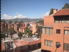 Daytime view from our Cuenca apartment