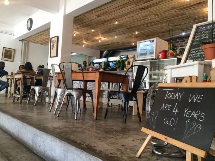 Love Food interior bar seating