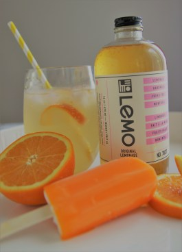 Lemo cocktail with orange creamsicle