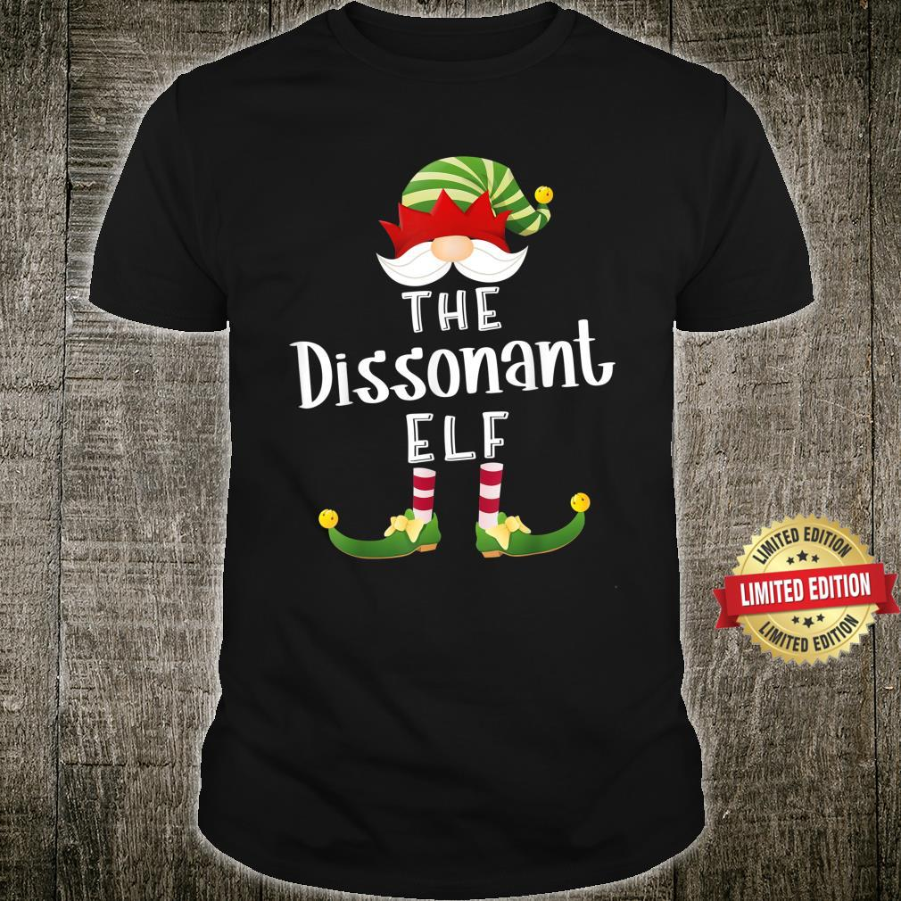 Dissonant Elf Group Christmas Pajama Party Shirt