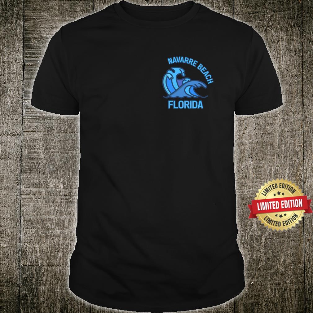 Graphic Navarre Beach Florida Pocket Wave Souvenir Shirt