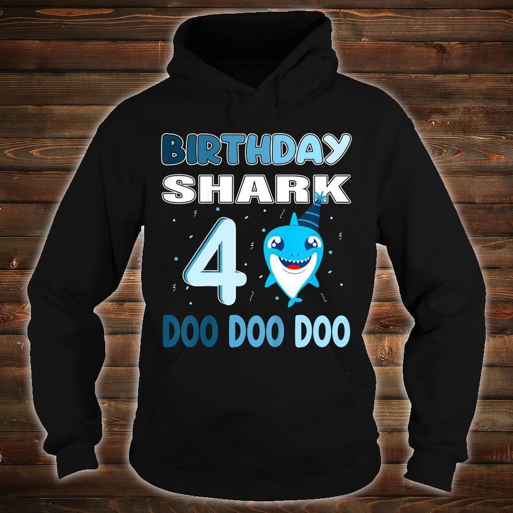 Kids baby shark birthday shirt 4 Birthday party Shirt hoodie