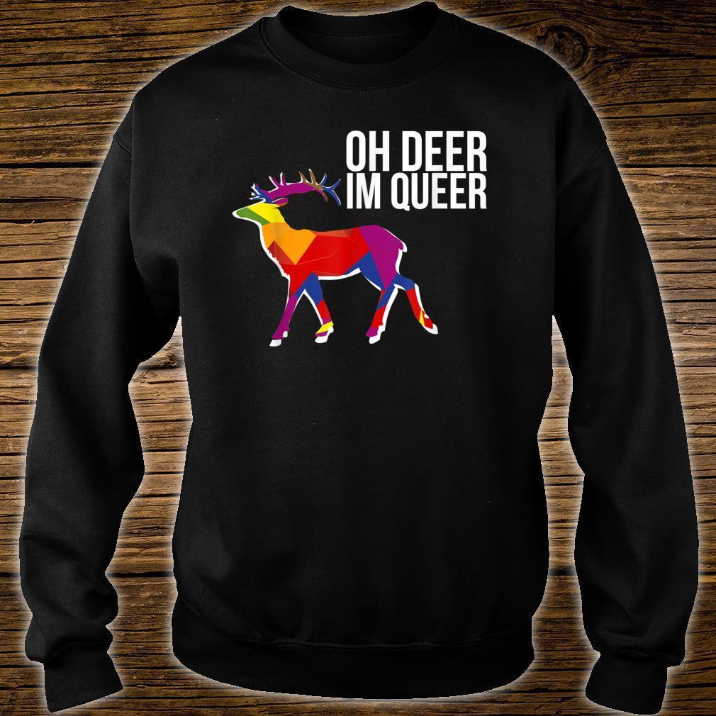 Oh Deer Im Queer Transgender Queer LGBTQ+ Love Equality Bi Shirt sweater