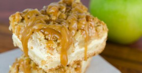 Caramel Apple Cheesecake Bars | © www.toochskitchen.com |