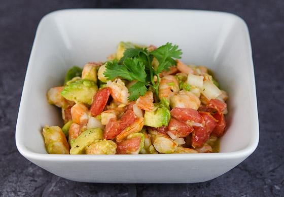 Zesty Shrimp, Avocado, Cilantro and Lime Salad   © www.toochskitchen.com  