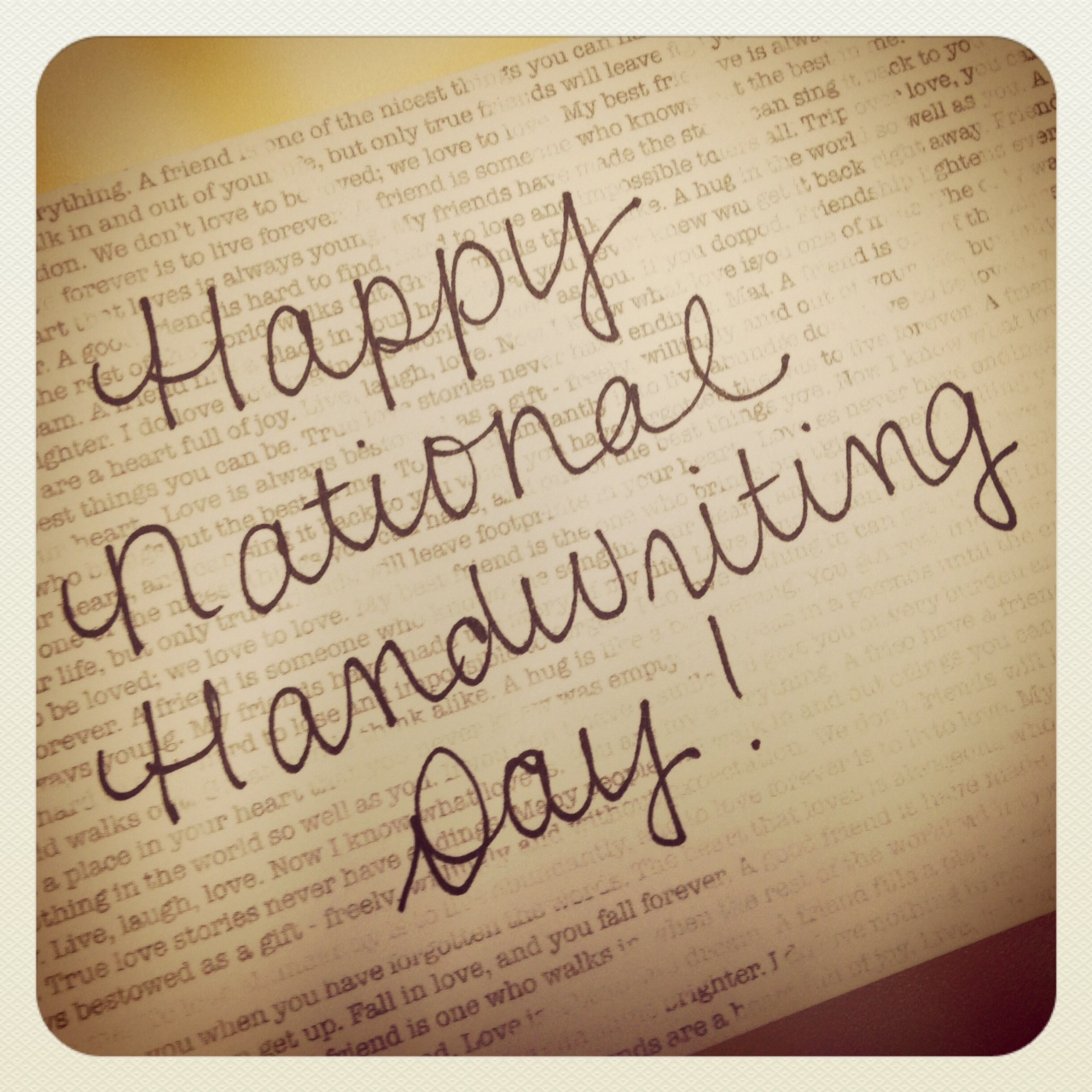 Happy National Handwriting Day Jan 23