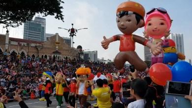 Photo of 26 Maskot Watak Animasi Sertai Perarakan Hari Kebangsaan