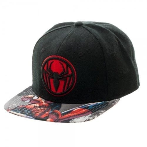 Gorra Miles Morales Bioworld Spiderman Marvel Logo