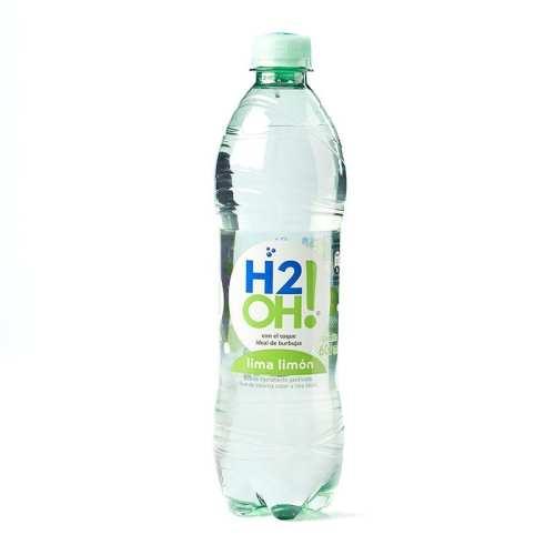 Bebida Gaseosa Postobón H2OH Lima Limón en botella plastica 600 ml