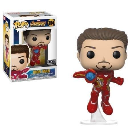 Figura Iron Man Funko POP Avengers Infinity War Marvel Sin Máscara (Edición Especial)