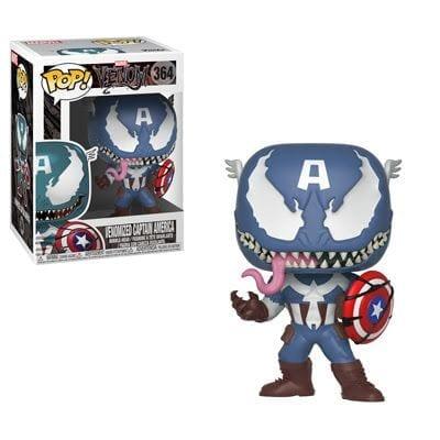 Figura Capitán América Funko POP Marvel Venomizado