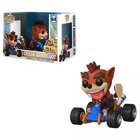 Figura Crash Bandicoot Funko POP Crash Team Racing Videojuegos Rides