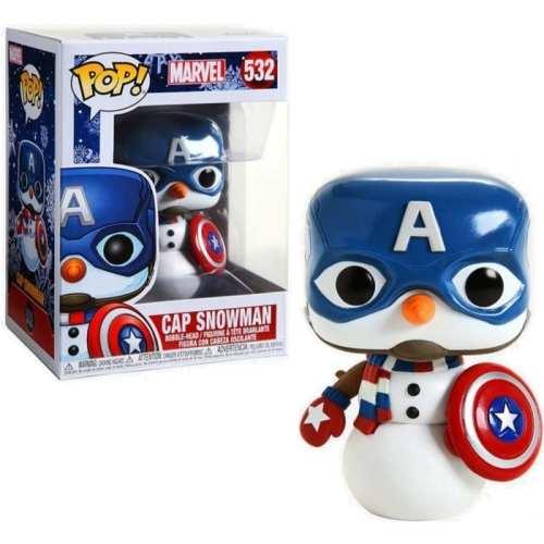 Figura Capitán América Funko POP Capitán América Marvel Navideño
