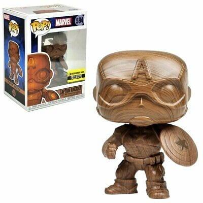 Figura Capitán America Funko POP Capitán América Marvel (Madera)