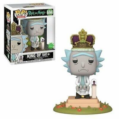 Figura Rick Funko POP Rick and Morty Animados Rey del Inodoro Con Sonido Y Luces