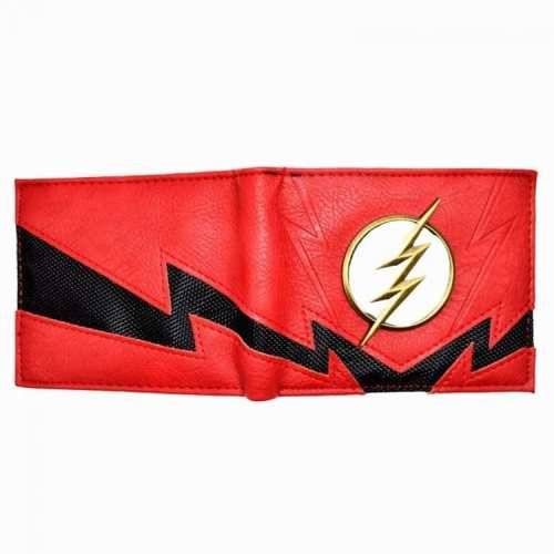Billetera Flash Logo Metálico PT Flash DC Comics Rayo Negro (Copia)