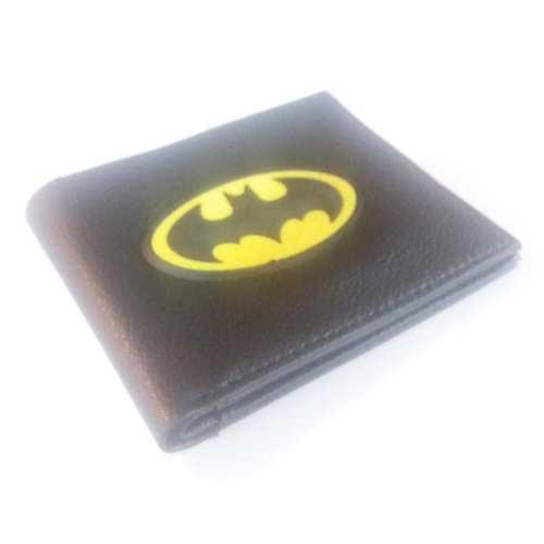 Billetera Batman PT Batman DC Comics Logo 1989 Amarillo Metálico en Cuerina