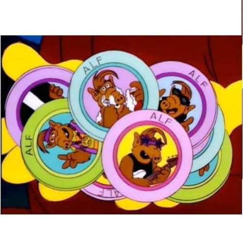 Fichas ¿Te Acuerdas de Alf? Poof B Los Simpsons Animados