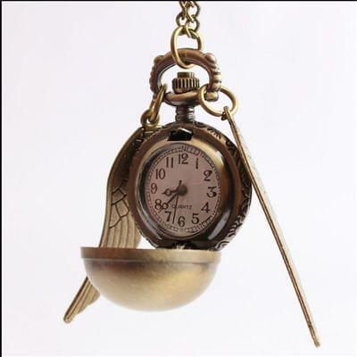 Collar Reloj Snitch Dorada PT Harry Potter Fantasia Sin detalles