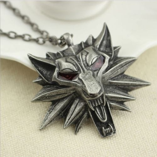 Collar Metálico Simbolo the Witcher Geralt de Rivia EB The Witcher Videojuegos
